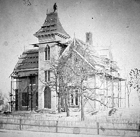 LeDuc Mansion with Scaffolding